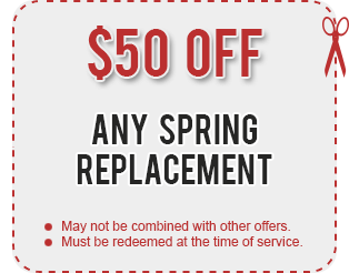 garage door spring replacement coupon